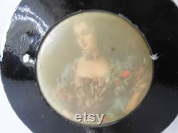 1930's Powder Jar, Vintage Collectible, Jar with Handle, Ladies Grooming, Vanity Accessory, Grooming Collectible, Spa Accessory