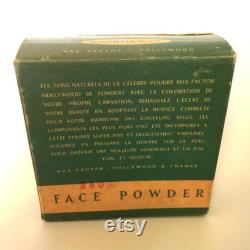 1940s Max Factor Hollywood Face Powder In original box packaging with full sealed contents. Immaculate condition
