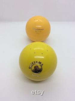 2 Vintage 70s Talcum Powder Balls