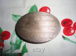 American Beauty Compact Brass Fruit Motif Vintage Vanity Bathroom Decor Powder Holder