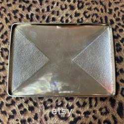 Antique Baccarat and Sterling Dresser Box