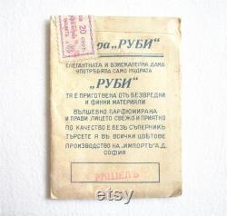 Antique Face Powder RUBIE Box Pack 1930s Boudoir Room Decor Fragrance Powder Unopened