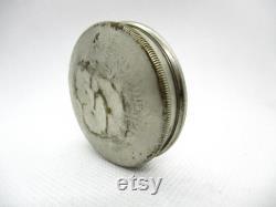Antique RICHARD HUDNUT Paris New York Complimentary Nickel Silver Tone Sachet Holder Powder Sifter