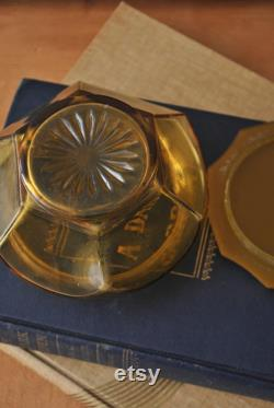 Art Deco Celluloid Glass Powder Jar