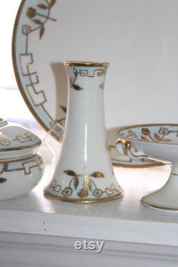 Art Deco Nippon Vanity Set 7 Pc Set Vintage 1920s