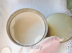 Avon Metal Dusting Powder Box, Avon Jasmine Body Powder Can, Empty Powder Tin with Puff, 40s