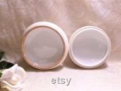 Bawo And Dotter Elite S M Limoges France Bisque Porcelain Handpainted Powder Box Floral Design Gold Detail Always FREE Domestic SHIPPING