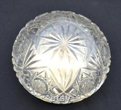 Birks Sterling Crystal Vanity Jar