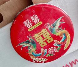 Chinese Vintage Powder Box Art Decoration Guarantee old Guarantee authentic