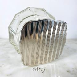 Clear Vanity Jar with Lid.