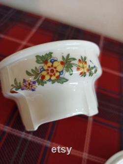 Czechoslovakian Lidded Powder Jar Trinket Jar.