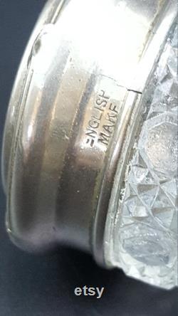 English Crystal Dresser Jar