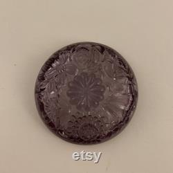 Fenton Limited Edition Purple Glass Powder Box, Trinket Box 9486PQ