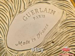 GUERLAIN Paris Powder Box Foldable Mirror Made in France Gold Coloured Beautiful Vintage