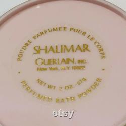 Guerlain Shalimar Dusting Powder Perfumed 2 Ounce Sealed Inside Pink