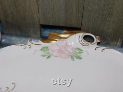 Mallory Ceramics Jamar Vanity Powder Or Jewelry Box Box with Tray Under it, Trinket Box, Vanity Box, Vintage Home Decor, )shc