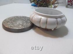 Matson Covered Powder jar Silver top Antique Soap Dish Bathroom Vanity decor powder box Vanity Soap Dish Bedroom Vanity Decor Trinket Box