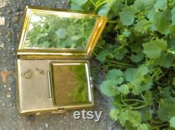 Musical Powder compact mirror from 50s,travel mirror,antique mirror,musical compact,By Clover in original box,Brand New,bridesmaid gift
