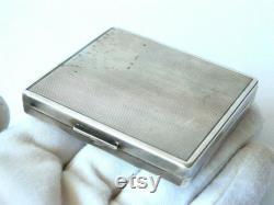Original Vintage 1930s Florally-etched Fine Silver Compact Dance Purse Powder Box Vintage Vanity Collectibles Silver Compact