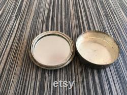 Persan Persian vintage metal tin box powder mirror makeup