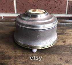 Powder Music Box Vintage Bath and Beauty Vintage Music Box Vintage Powder Box Vintage Vanity Storage Powder Box Cosmetic Storage