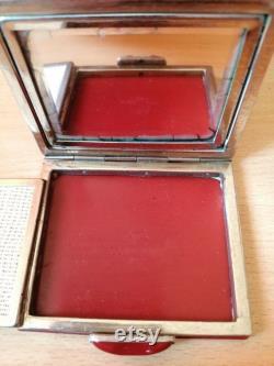 Powder box vintage powder box Old powder box Beautiful powder box Cosmetics Perfumery Vintage cosmetics antique perfumery Soviet powder box