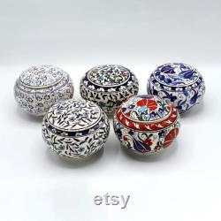 Puff Powder Boxes, Tobacco Spice Jars Ceramic, Kitchen Storage, Stash Weed Trinket Jewelry Gift Box