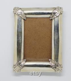 Pure Silver Photo Picture Frame Free Engraving, Personalized,12cm x 9cm, Wedding,Birthday and Anniversary Gift,Antique Frame,925 Sterling