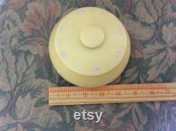 REDUCED Art Deco Antique Hand Painted Celluloid Powder Box with Lid