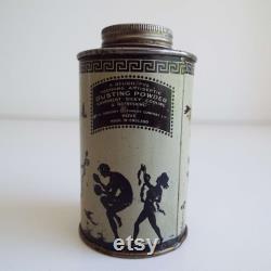 Rare Antique Dubarry Arcadie Talcum Powder Tin Hove Dusting Powder Talc Tin Advertising Tin Storage Tin Home Decor Shop Display Film Prop