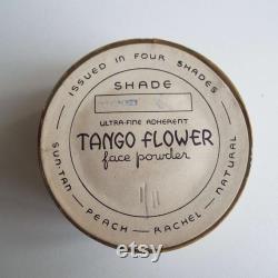 Rare Vintage 1930's Tango Flower Face Powder Box Unopened Unused Art Deco Powder Box Make-Up Cosmetic Vanity