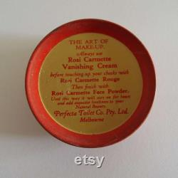 Rare Vintage 1940's 1950's Rosi Carmette Powder Tin Perfecta Toilet Company Melbourne Face Powder Box Unused Make-up Beauty Glamour