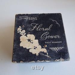 Rare Vintage Simpsons Floral Bower Face Powder Box Melbourne Make-Up Cosmetics Vanity Storage 1930's 1940's Face Powder Laroona