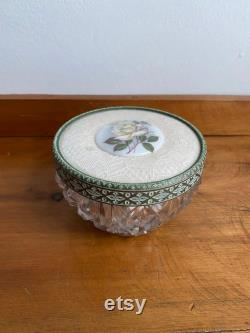 Regent Of London Vanity Storage Glass Pot With Decorative Lid