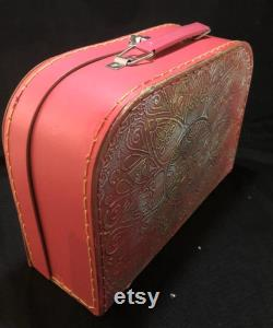 Small Red Decorative Customised Case for Make Up, Trinkets, a Cute Evening Bag or Child s Case
