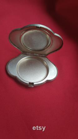 Soviet powder box, Vintage cupronickel powder, Melchior pocket mirror, Leningrad, USSR, Antique powder box, Vintage gift, Collectible, 1950s