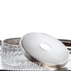 Sterling Silver and Crystal Vanity Box