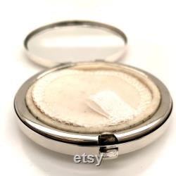 Tiffany and Co Estate Sterling Silver Powder Case with Mirror 73.4 Grams TIF93