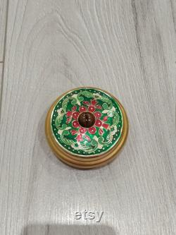 VINTAGE Powder box USSR. Very beautiful Powder box. Soviet puff-box Vintage puff-box. Powder box Casket enamel vintage 1970 USSR