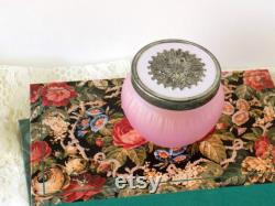 Victorian Decor. Avon Elusive Vanity Jar. Vanity Table Decor Powder Jar. Dresser Jar. Cosmetic Jar. Vanity Accessory. Romantic Boudoir Decor