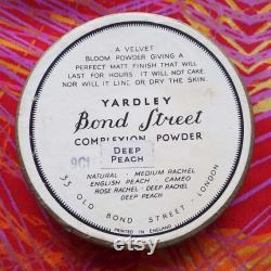 Vintage 1930's Yardley Face Powder Yardley Bee Complexion Powder Wax Seal to Lid Unopened Rare Art Deco Yardley Face Powder Box Cosmetics