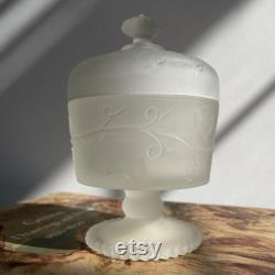 Vintage Avon frosted glass decanter