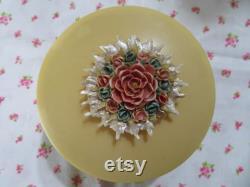 Vintage Bakelite Vanity or Dressing Table Powder Box Jewelry or Trinket Box Beauty Accessory
