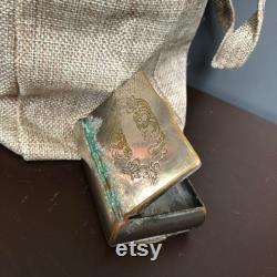 Vintage Beauty Powder Box Vanity Accessory Decor Medecine Stash Box Pill box Secret Department Antique Patina Old Retro Rare