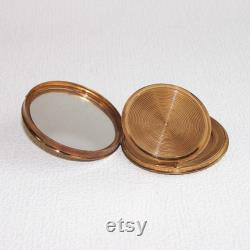 Vintage Brass Powder Compact Made in USSR. Refillable Powder Box with a Mirror. Collectible Mirrored Compact. Vanity Mirror. Gift for Her.