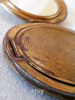 Vintage Compact Powder Box woomen antik gift little mirror compact powder compact mirror