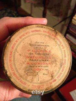 Vintage Coty Powder Puff Powder Box