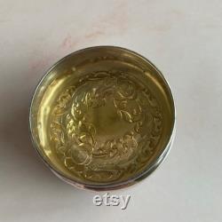 Vintage Edwardian Silver-Plate and Glass Talcum Powder Shaker Vanity Jar, Vintage Vanity
