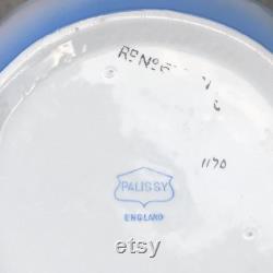 Vintage English Palissy Blue Bird, Early Bird Porcelain Powder Jar