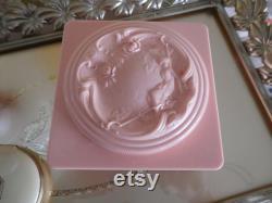 Vintage Evyan Art Nouveau Powder Box Vanity Box